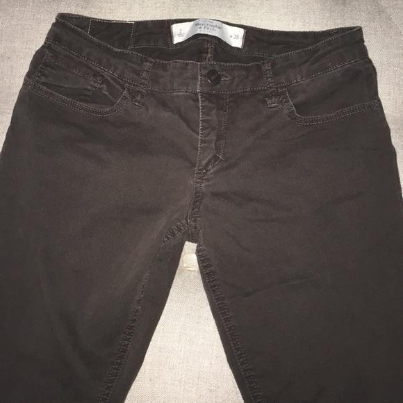 Abercrombie & Fitch Denim - Abercrombie brown skinny jeans